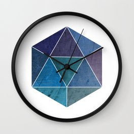 Geometric Polyhedron Wall Clock