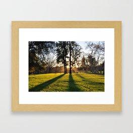 Family Picnic Framed Art Print