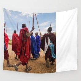The Maasai dance Wall Tapestry