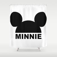 minnie Shower Curtains featuring MINNIE by ilola