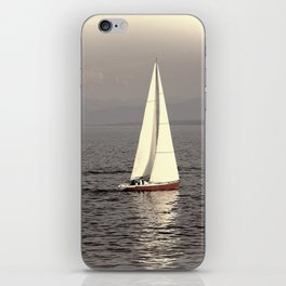 Sailing boat on the lake iPhone Skin