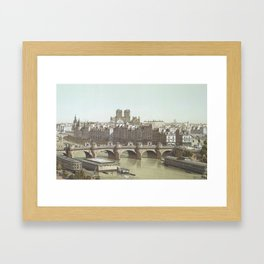 Cite and Pont Neuf, 1840 by Theodor Hoffbauer , 1875-1882 Framed Art Print