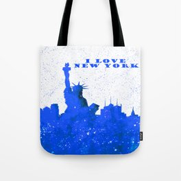 I LOVE NEW YORK With Blue Banner Tote Bag
