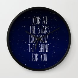 Look How They Shine For You 2.0 Wall Clock