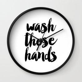 Wash those hands Toilet sign Bathroom rules INSTANT DOWNLOAD Kids wall art Loo sign Washroom sign Ba Wall Clock