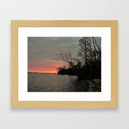 a winter mornin on the james river Framed Art Print