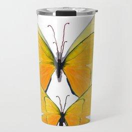 MODERN ART YELLOW BUTTERFLIES ABSTRACT Travel Mug