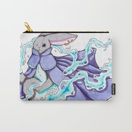 Water Bending Bunny Carry-All Pouch