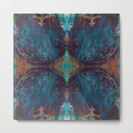 Blue angel geometry Metal Print