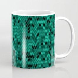 Green knitted textiles Coffee Mug
