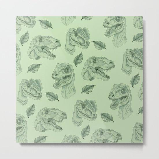 Dino Damage Metal Print