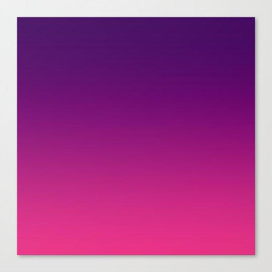 Ombre gradient digital illustration purple red colors Canvas Print