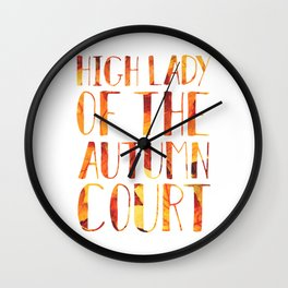 High Lady of the Autumn Court Wall Clock