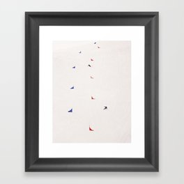 i'd rather be skiing Framed Art Print