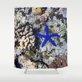 Starfish on the Reef Shower Curtain