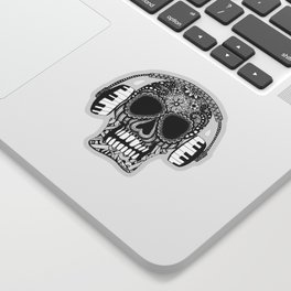 Tangled Skull with Headphones Sticker