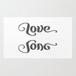 LOVE SONG ambigram Rug