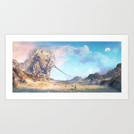 Bravest of hearts (travels in search of giant monsters) Art Print