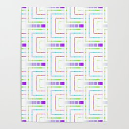 Abstract geometric pattern.3 Poster