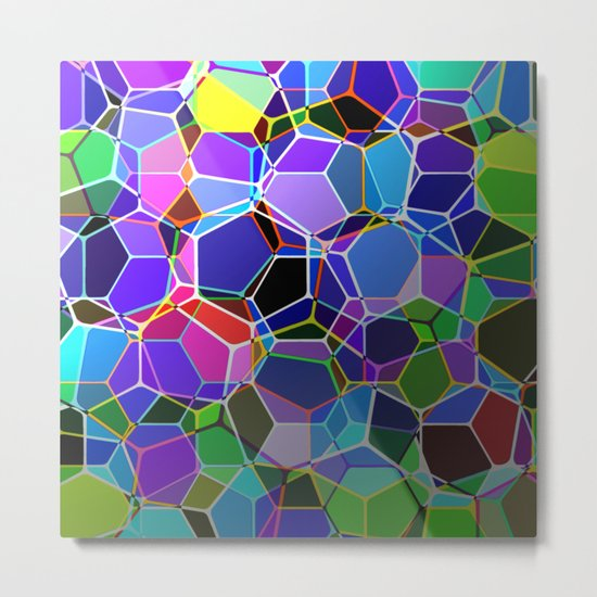 Geometric Genetics - Metallic, abstract, geometric pattern Metal Print