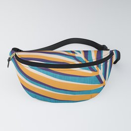 Gold and Navy Abstract Palm Frond Fanny Pack