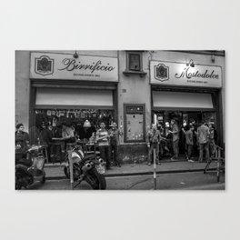 Friendly Florentine Locals at the Bar Canvas Print