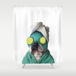 Dog SPA Art Print Shower Curtain