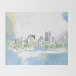 Pittsburgh Point Throw Blanket