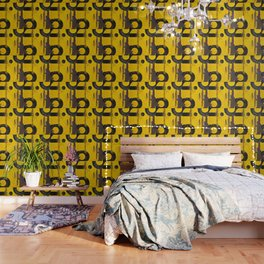 black numbers on yellow background Wallpaper
