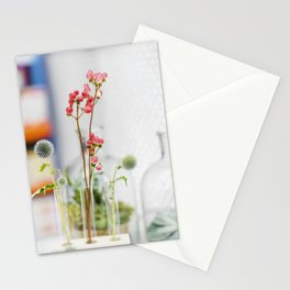 Graceful pink  flowers Stationery Cards