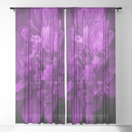 Peony In Ultra Violet Color #decor #society6 #buyart Sheer Curtain