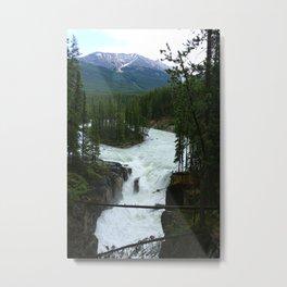 Sunwapta Falls View Metal Print
