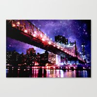 new york Canvas Prints featuring New York New York by WhimsyRomance&Fun