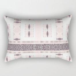 Silver Antique Details over Marble Design Rectangular Pillow