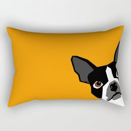 Peeking Terrier funny dog art customizable gift for dog lovers dog person must haves Rectangular Pillow