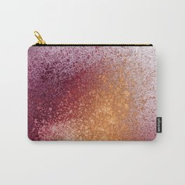Amber and Maroon Paint Splatter Carry-All Pouch