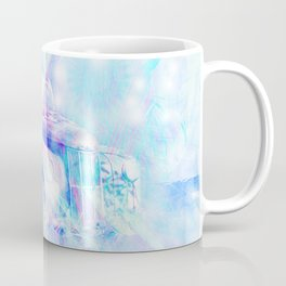 Old car in pink and blue space Coffee Mug