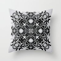 gothic Throw Pillows featuring Gothic by Ornaart