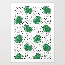 Monstera Dot Spots Art Print