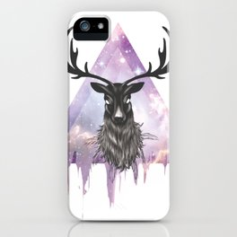 Pastel Goth Galaxy Deer iPhone Case