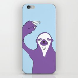 Sloth says HI iPhone Skin