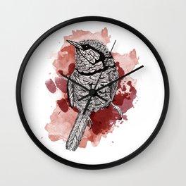 One Little Bird (Red Version) Wall Clock