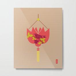 Chinese Antique - Lantern Metal Print