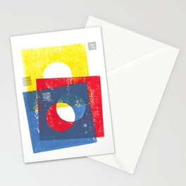 Basic in red, yellow and blue Stationery Cards