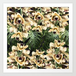 Hot Summer Tropical Orchid Jungle Print Art Print