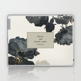 We live and breathe words. Will Herondale. Clockwork Prince. Laptop & iPad Skin