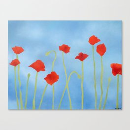 Poppies wide Canvas Print