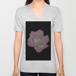 Pink and Yellow Rose Unisex V-Neck