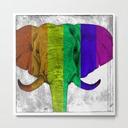 Tertiary Elephant Metal Print