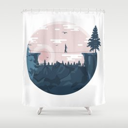 Stay Here Shower Curtain